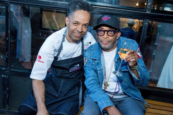 Chef Thierry Delourneaux - Chichifoofoo - with Spike Lee at Jame Beard House 2017