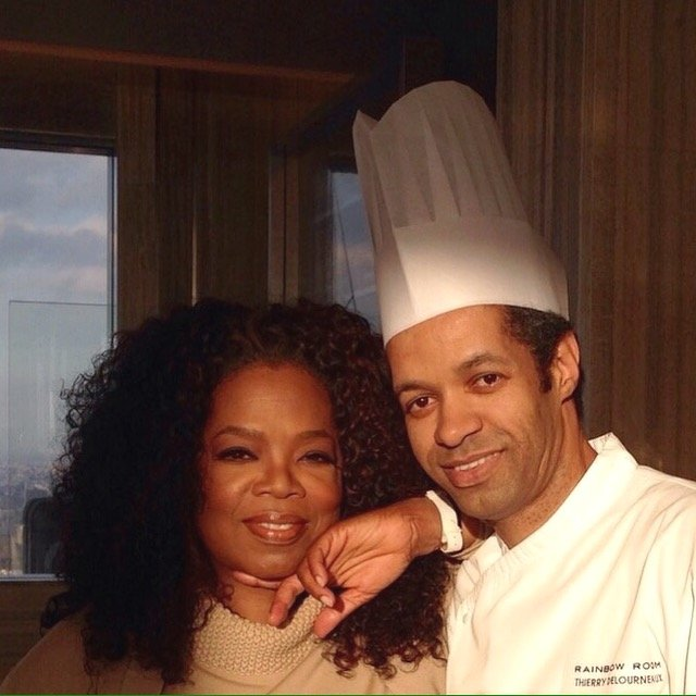 Chef Thierry Delourneaux - Chichifoofoo - Oprah and Chef at Rainbow Room, New York City, USA