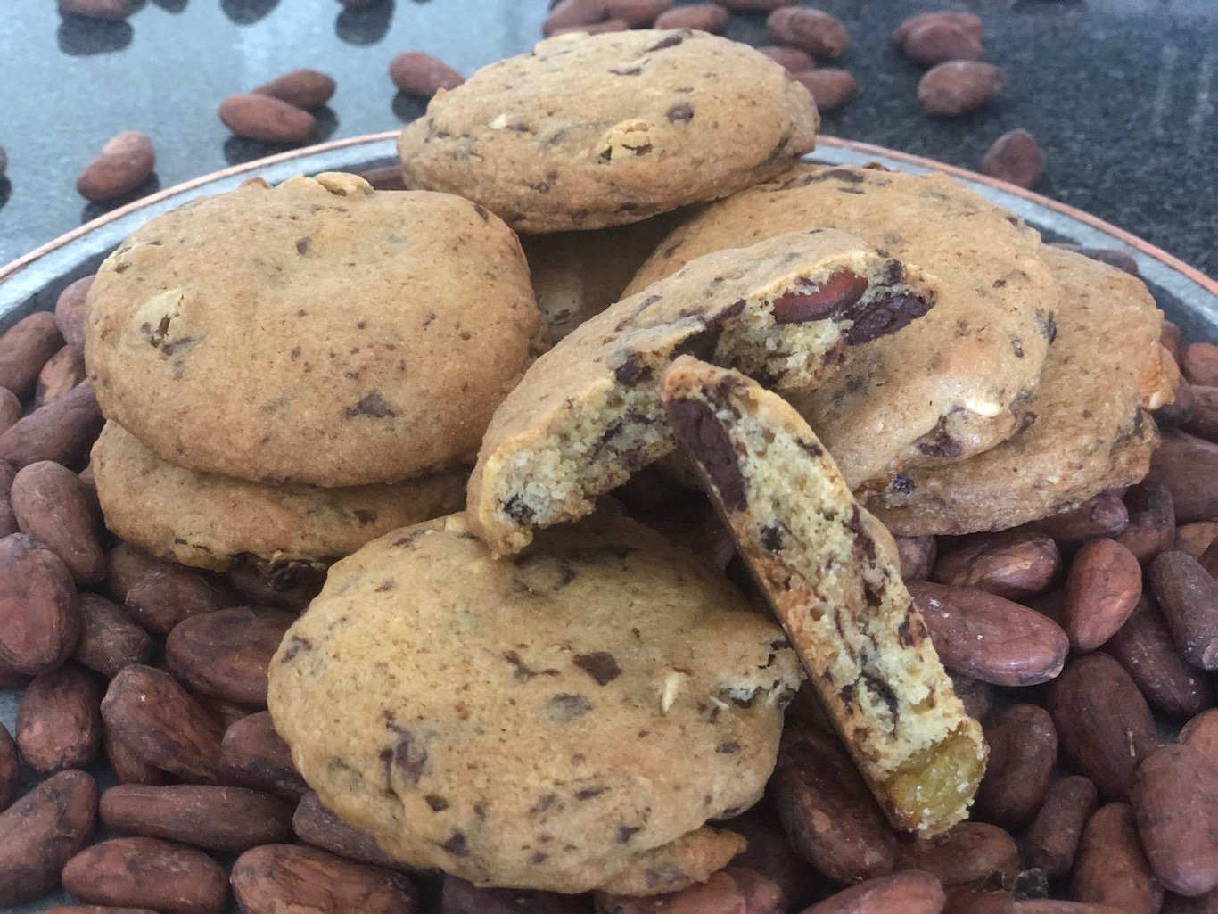 Chef Thierry Delourneaux Chichifoofoo Chocolate Chip Almond Raisin Cookies