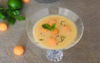 Chef Thierry Delourneaux Chichifoofoo Chilled Cantaloupe Lime Soup
