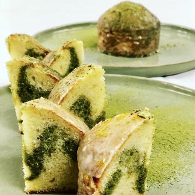Chef Thierry Delourneaux - Chichifoofoo - Baking Masterclass - Lemon Green Tea Pound Cake, Citrus Glaze