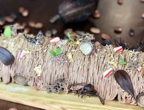 Chocolate Flourless Peppermint Log